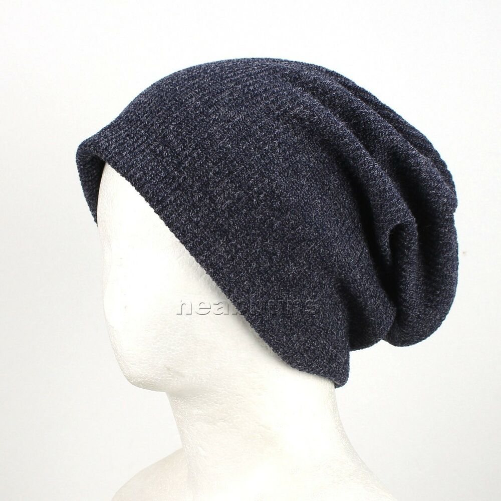 Details about new lovery open top BEANIE winter Hats ski best knit chic  caps man topw blue 49de09b551f