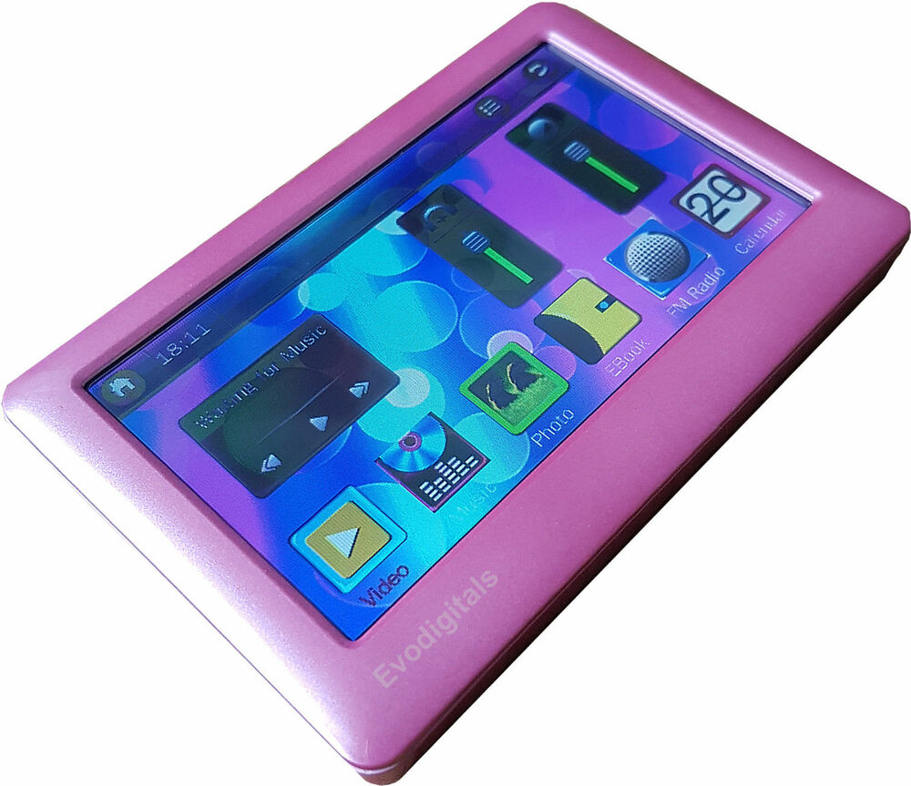 """I Like The New Touch Of Pink In: NEW EVODIGITALS PINK 16GB 4.3"""" TOUCH SCREEN MP5 MP4 MP3"""