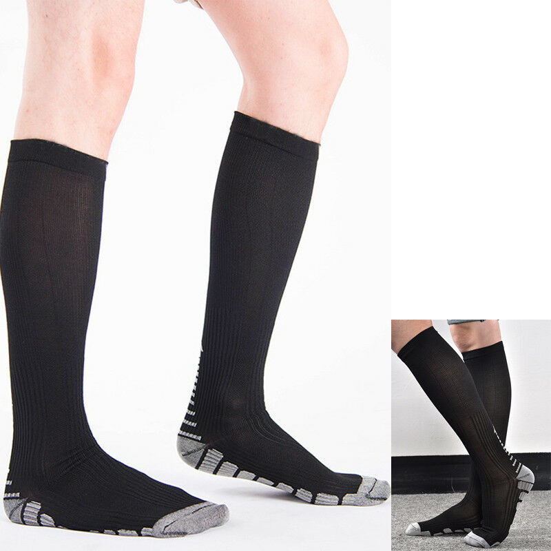 452c3740f32 Details about MEN S WOMEN S ANTI-FATIGUE KNEE HIGH STOCKINGS COMPRESSION  SUPPORT SOCKS UNIQUE