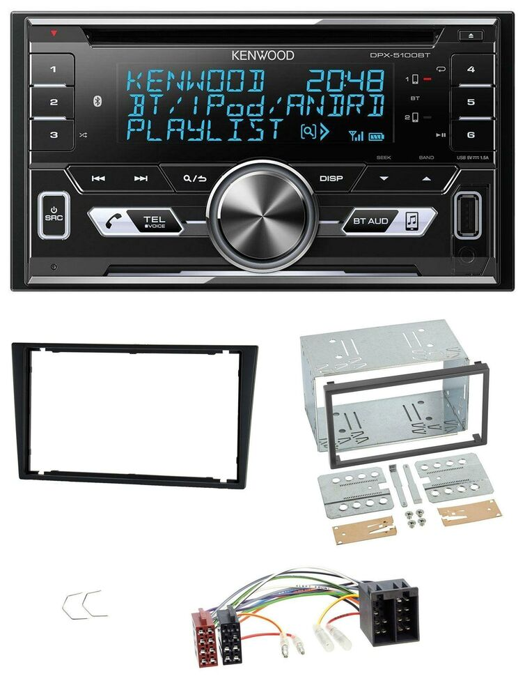 kenwood aux cd 2din mp3 bluetooth usb autoradio f r opel. Black Bedroom Furniture Sets. Home Design Ideas