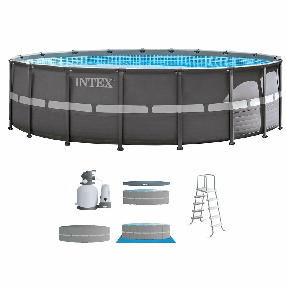 intex 18 39 x 52 ultra frame above ground swimming pool set. Black Bedroom Furniture Sets. Home Design Ideas