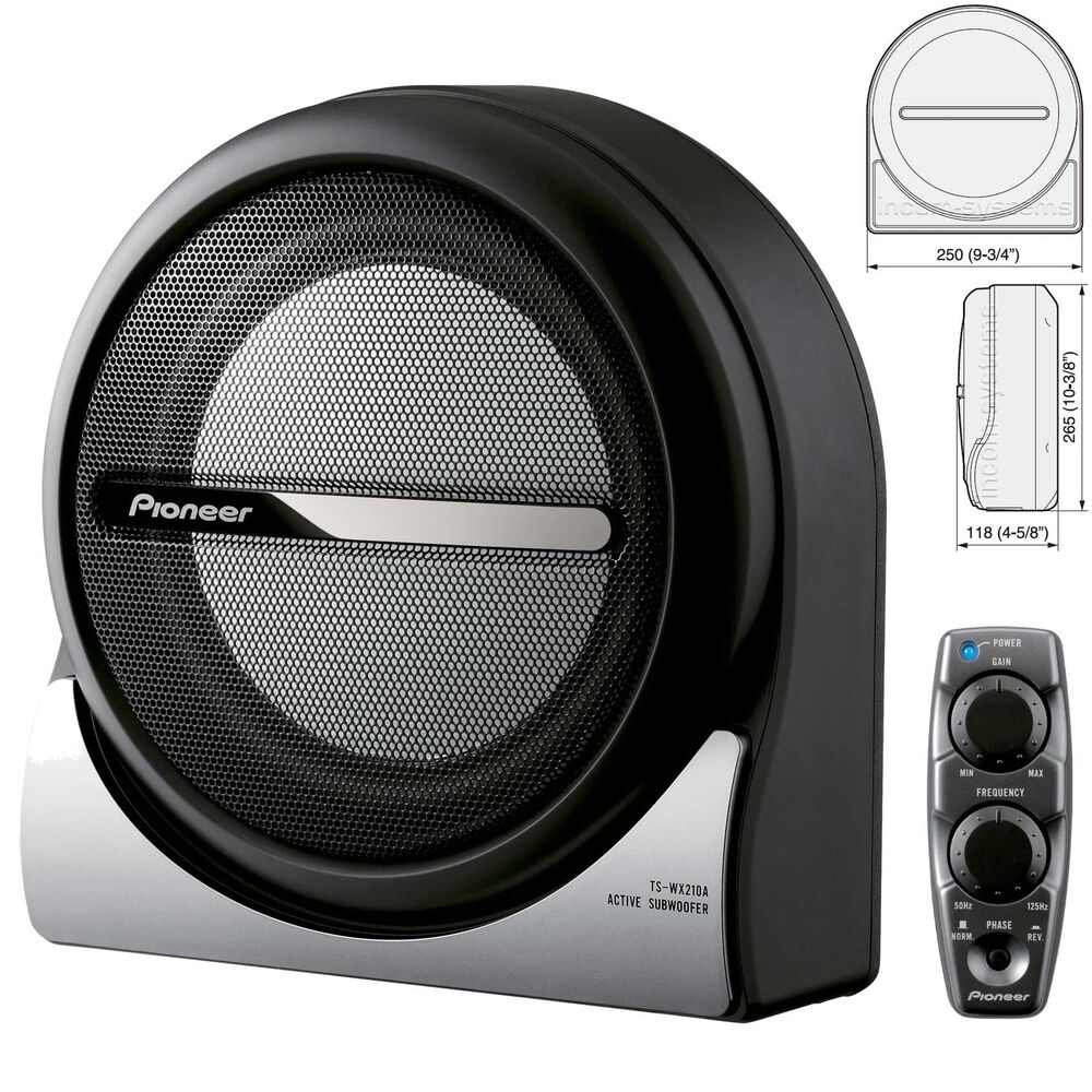 pioneer ts wx210a aktiv subwoofer 20 cm 8 150w kompakt. Black Bedroom Furniture Sets. Home Design Ideas