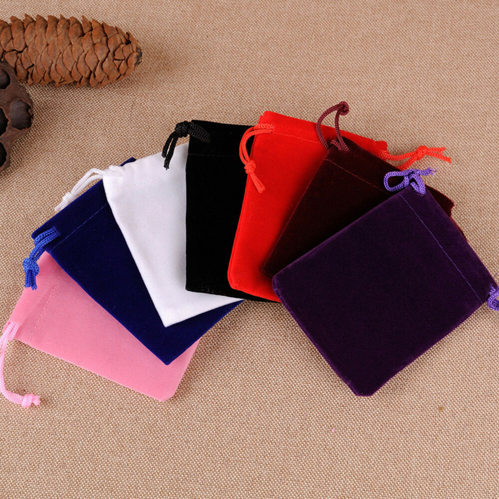 Wedding Gift Pouches: 10Pcs Velvet Storage Bags Wedding Favor Pouch Jewelry