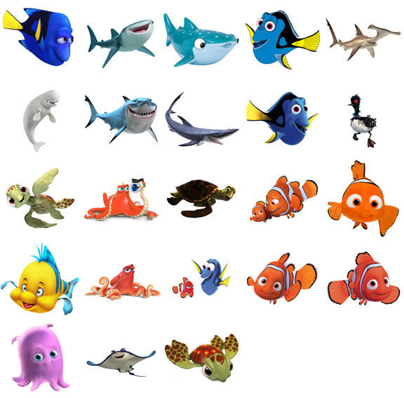 finding nemo dory characters iron on t shirt transfer. Black Bedroom Furniture Sets. Home Design Ideas