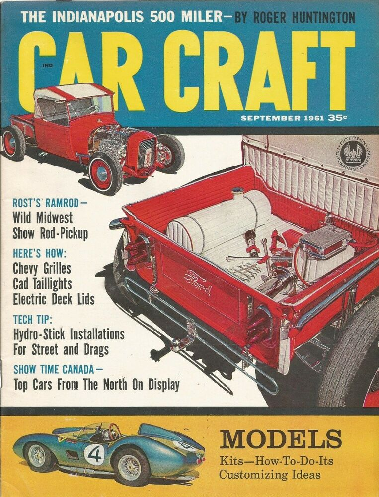 Car Craft 1961 Sept Cool Customs Car Shows Ebay