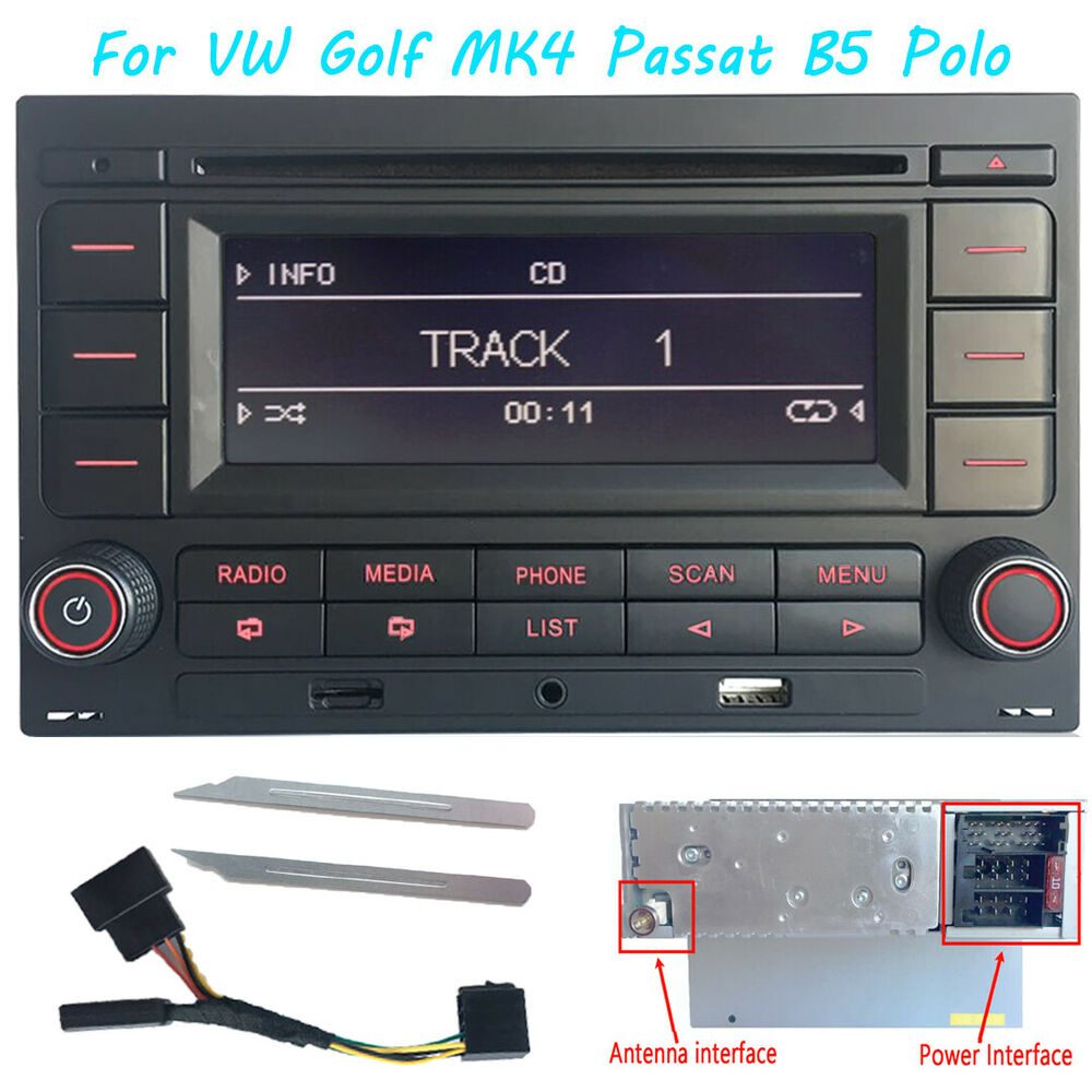 vw autoradio rcn210 pour golf mk4 passat b5 polo bluetooth. Black Bedroom Furniture Sets. Home Design Ideas
