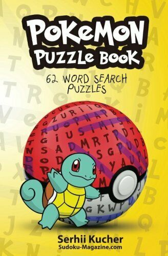 Pokemon Puzzle Book 62 Word Search Puzzles Volume 1 By Kucher