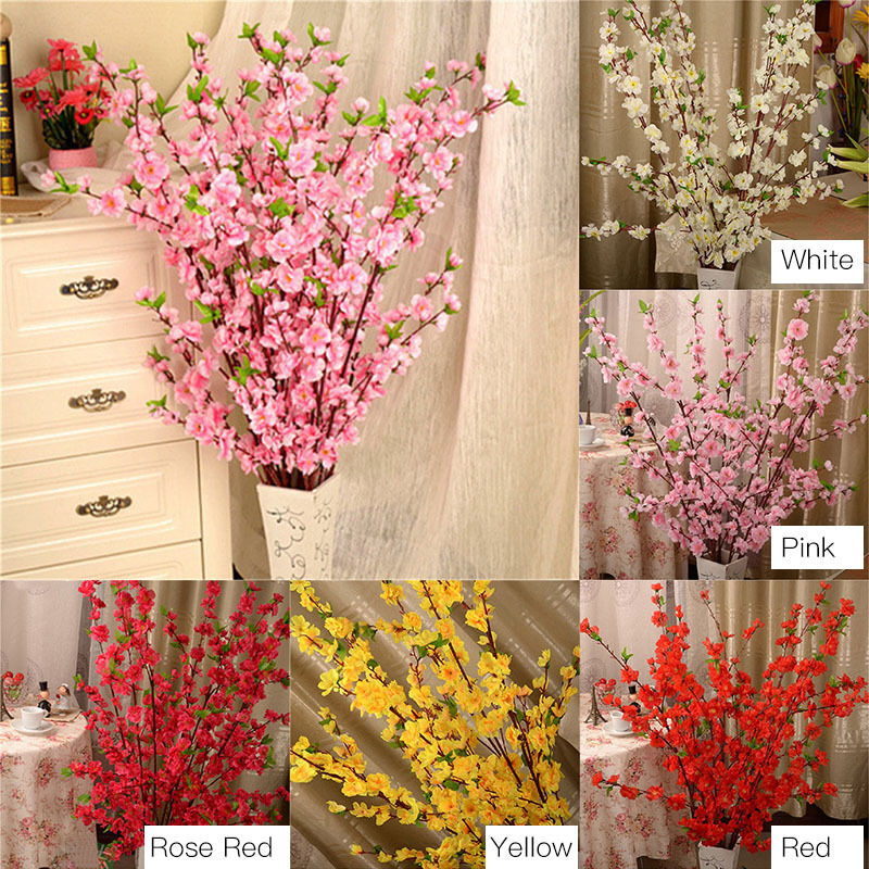 50 39 39 artificial cherry spring plum peach blossom branch Artificial flower decoration for home