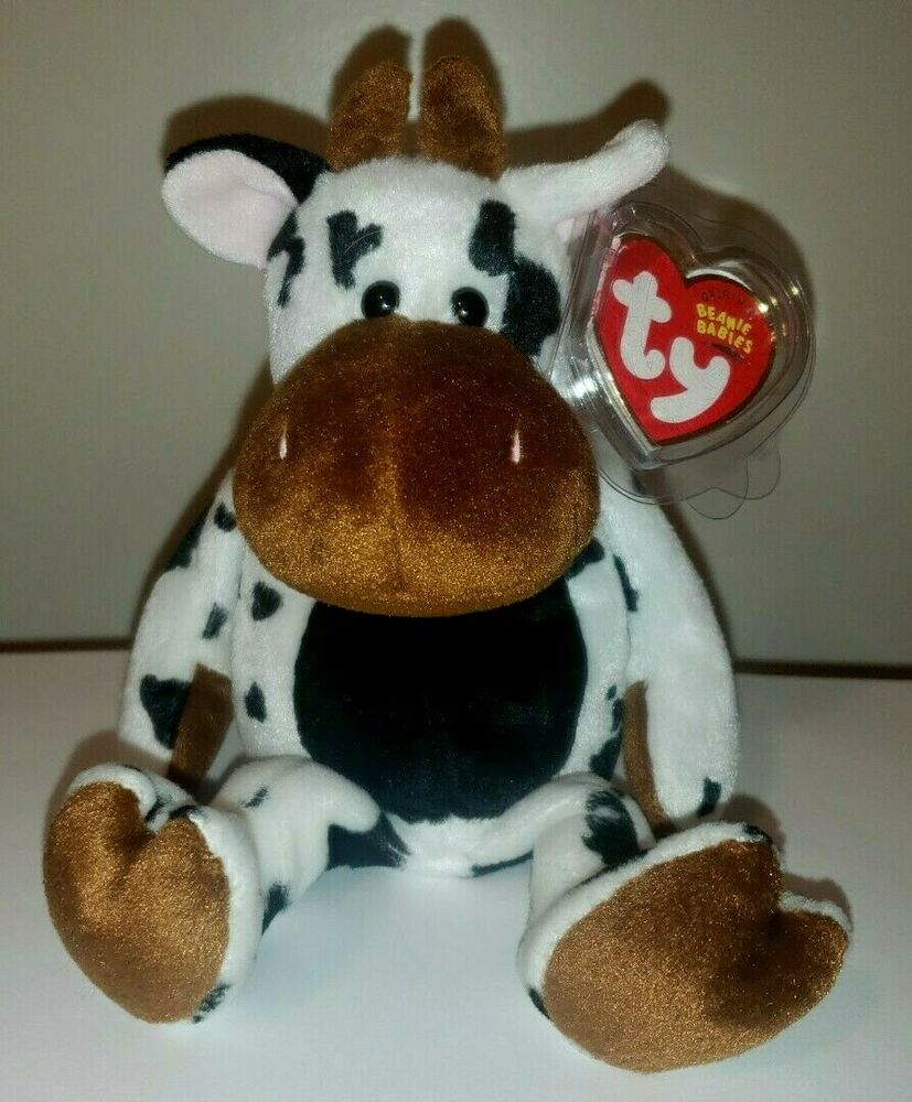 Details about Ty Beanie Baby ~ TIPSY the Cow (9 Inch) MWMT 9b15baf59a66