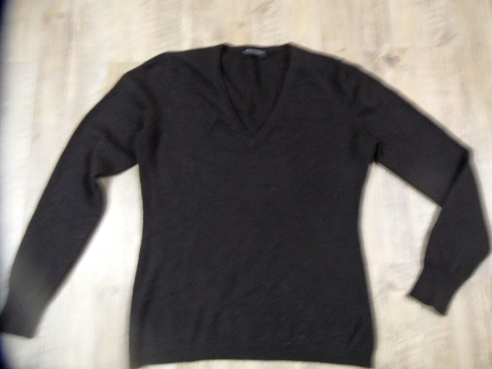 hemisphere pure cashmere 100 kaschmir pullover braun gr 42 zc1217 ebay. Black Bedroom Furniture Sets. Home Design Ideas
