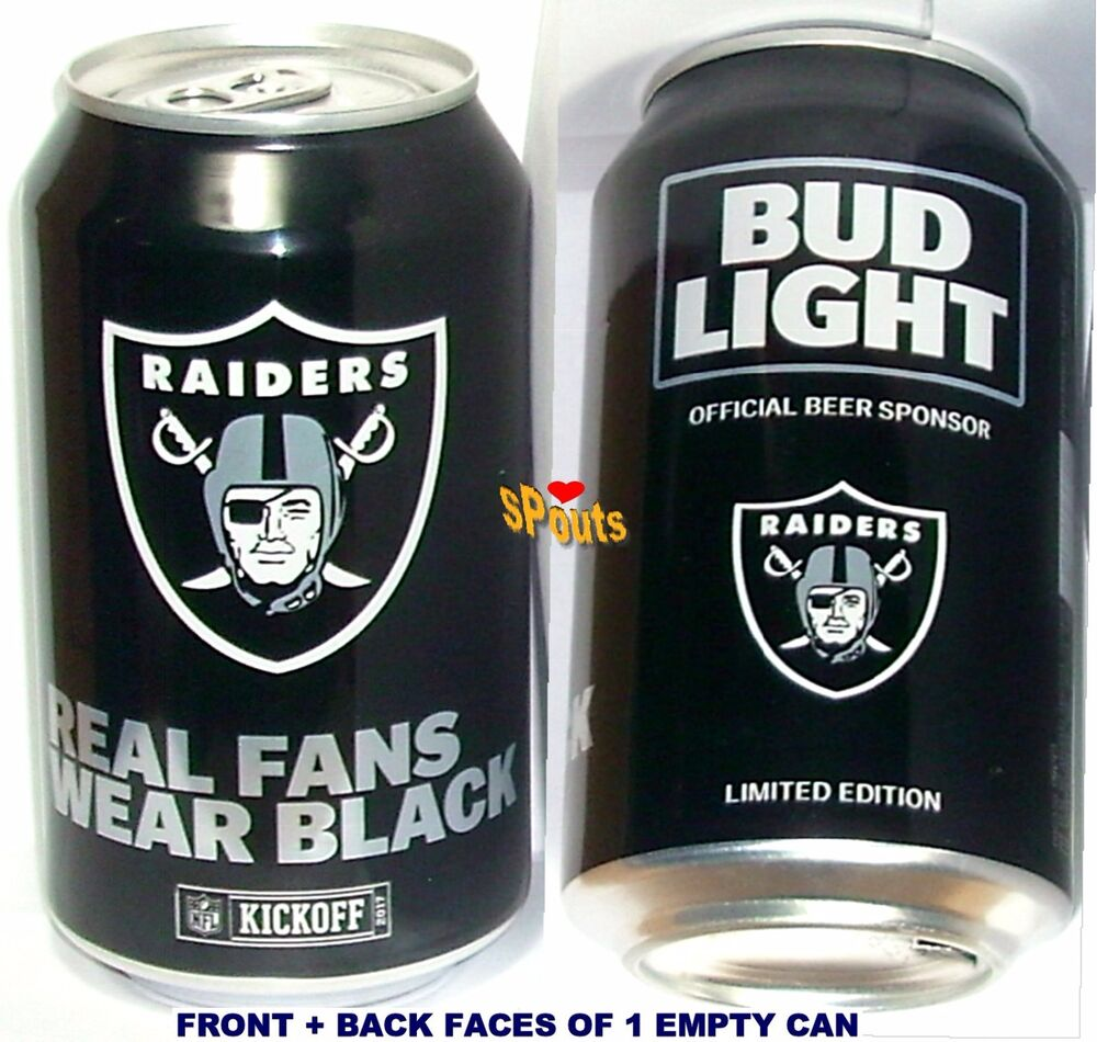 2017 Oakland Raiders Nfl Kickoff Bud Light Beer Can Sport