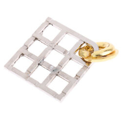 Grid Lock Puzzle Classic Metal Brain Teaser   Toy for Adults Children