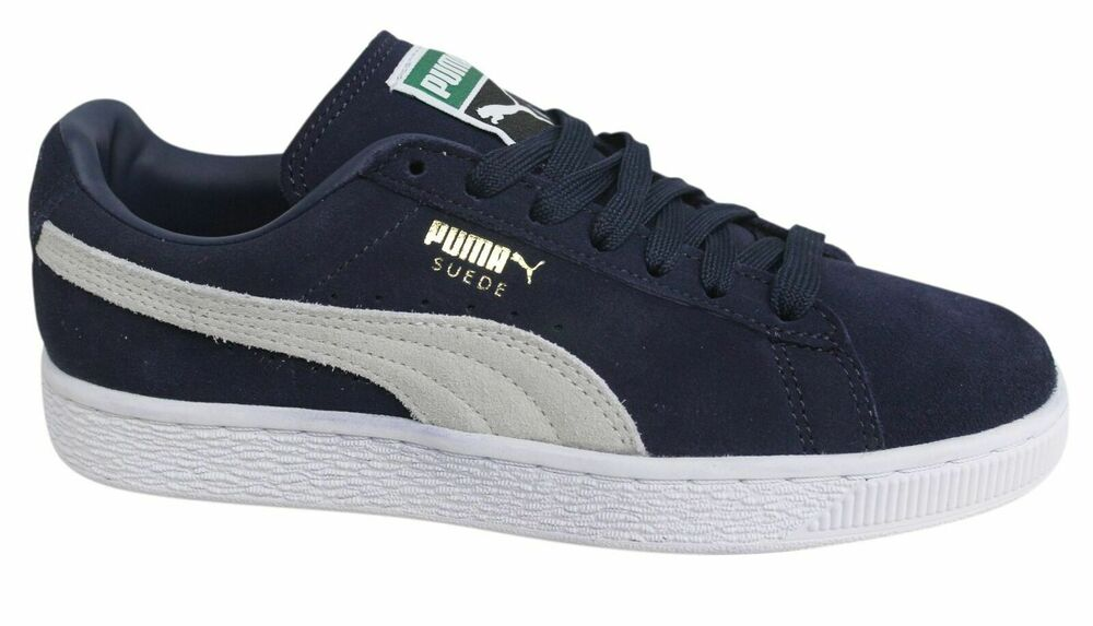 Puma Suede Classic + Lace Up Navy Blue Mens Leather Trainers 356568 51 D7  e29bcea1a
