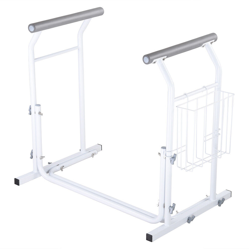 Stand Alone Toilet Safety Frame Rail Bar 375lbs Padded