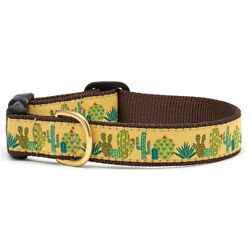 Up Country - Dog Puppy Design Collar -Made In USA - Succulents - XS S M L XL XXL