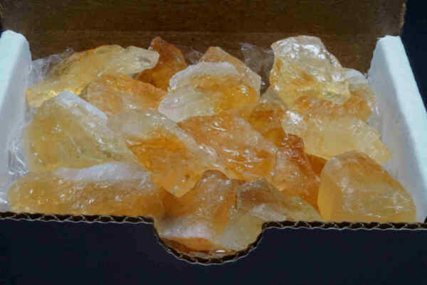 Citrine Collection 1/2 Lb Bright Gold Yellow Natural Crystal Gemstones