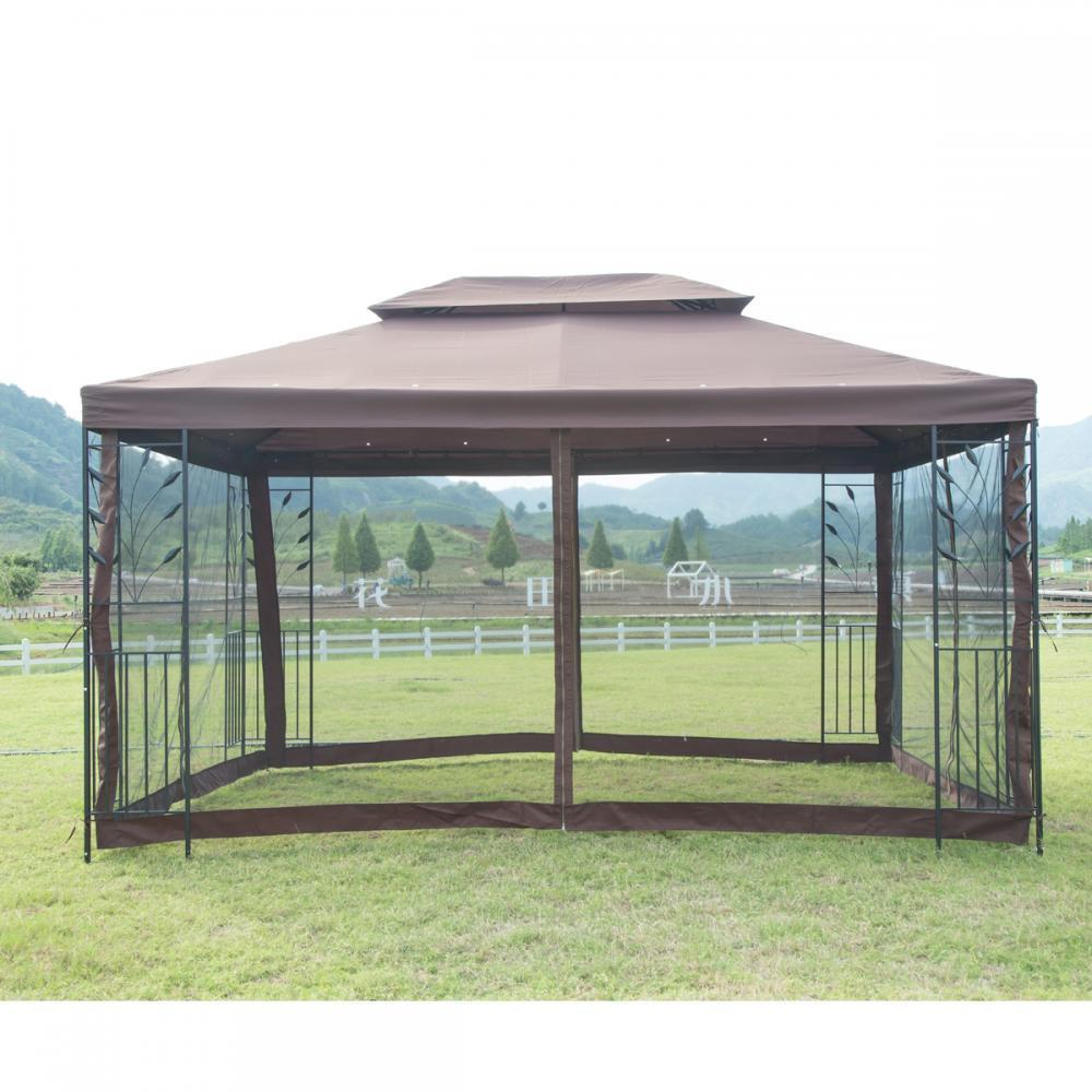 new 10 8242 x 10 8242 outdoor gazebo steel frame vented garden rh ebay com outdoor canopy gazebo big lots outdoor gazebo canopy