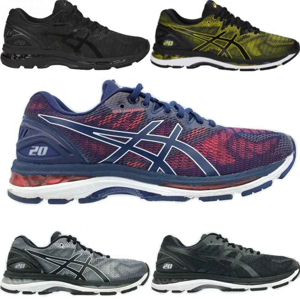 Details about Men s Asics GEL- Nimbus 20 Running Athletic Shoes - Black Red  Blue Black Grey d0f5fce316c4b