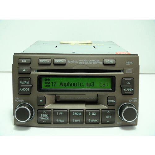 hyundai-azera-20062008-6disc-cd-mp3-cassette-player-brown-infinity-sys-tested
