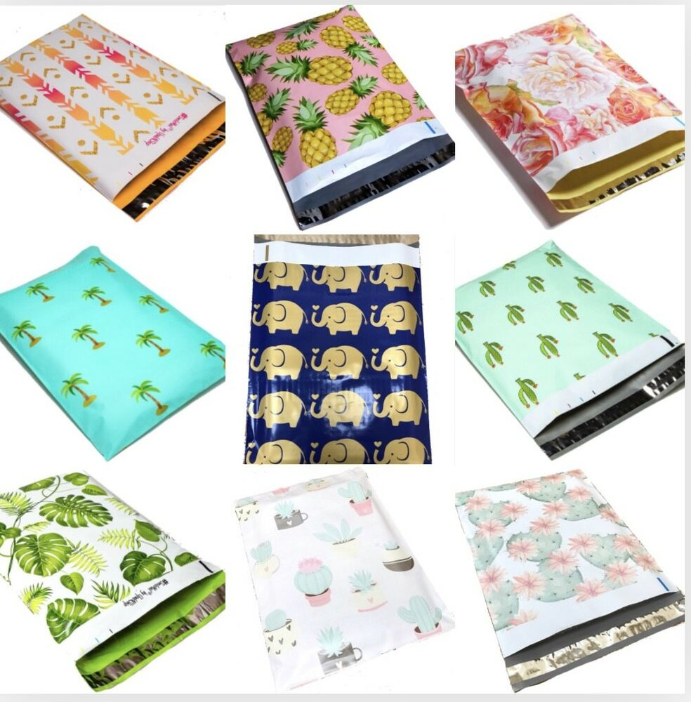 designer poly mailers plastic envelopes shipping bags