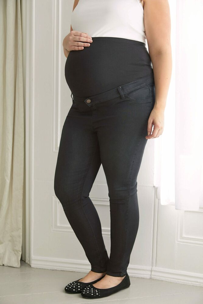 94129109e4f9b Details about Women's Plus Size Bump It Up Maternity Super Stretch Skinny  Jeggings With Comfor