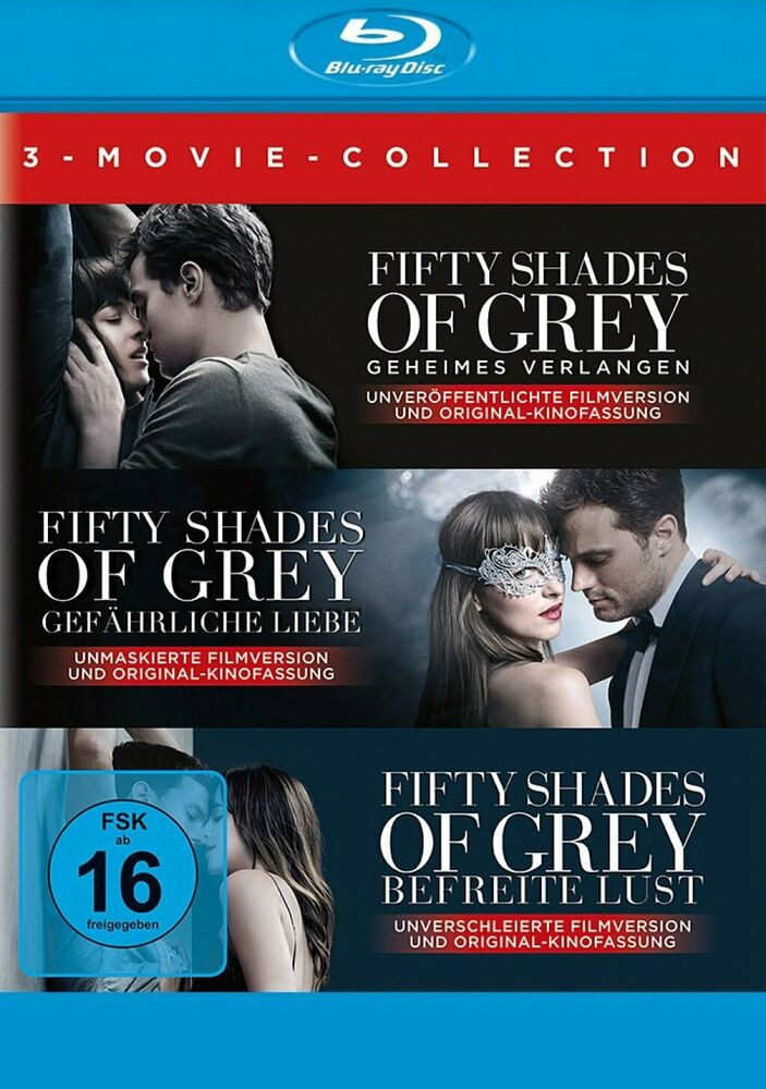 Fifty Shades of Grey 1+2+3 - 3-Movie Collection # 3-BLU