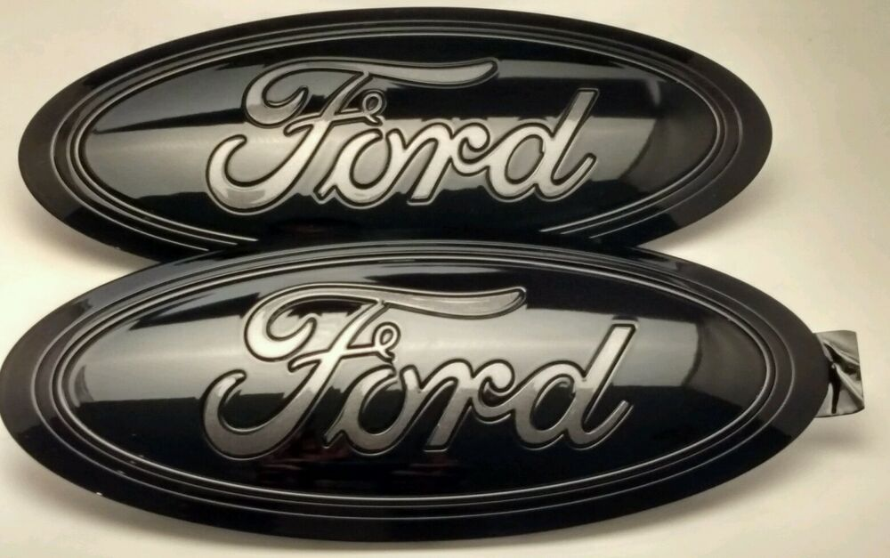 2017 FORD F-250 Black & MAGNETIC GRAY LOGO, Emblem SET ...