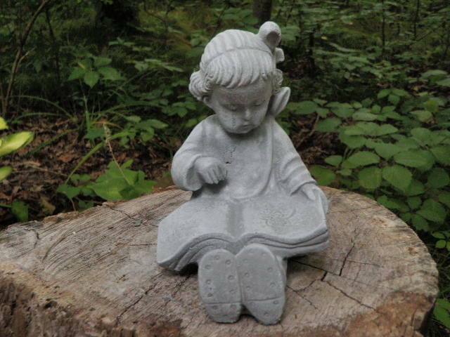 Cement 6 Quot Girl Reading Book Child Garden Concrete Statue