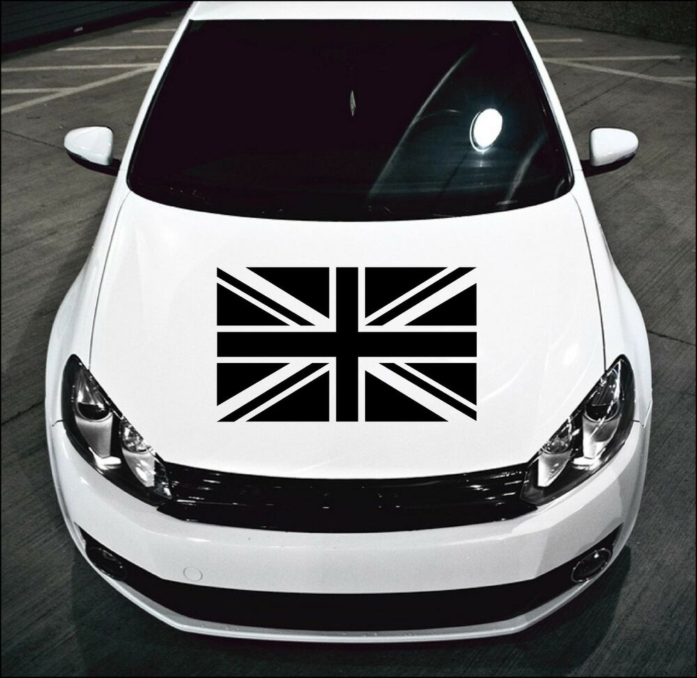 Details about large union jack flag car bonnet car vinyl graphic sticker van panel decal 17