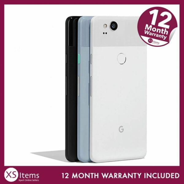 Google Pixel 2 G011A 64/128GB Android Mobile Smartphone Black/White Unlocked/EE