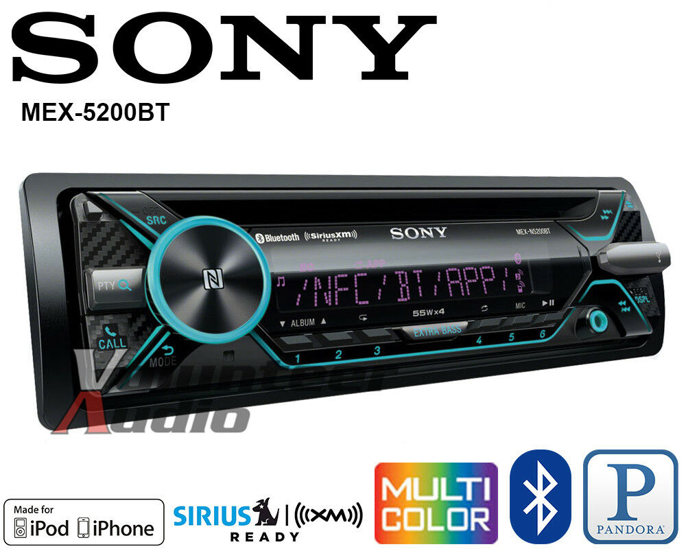 sony car stereo radio bluetooth cd player iphone pandora. Black Bedroom Furniture Sets. Home Design Ideas