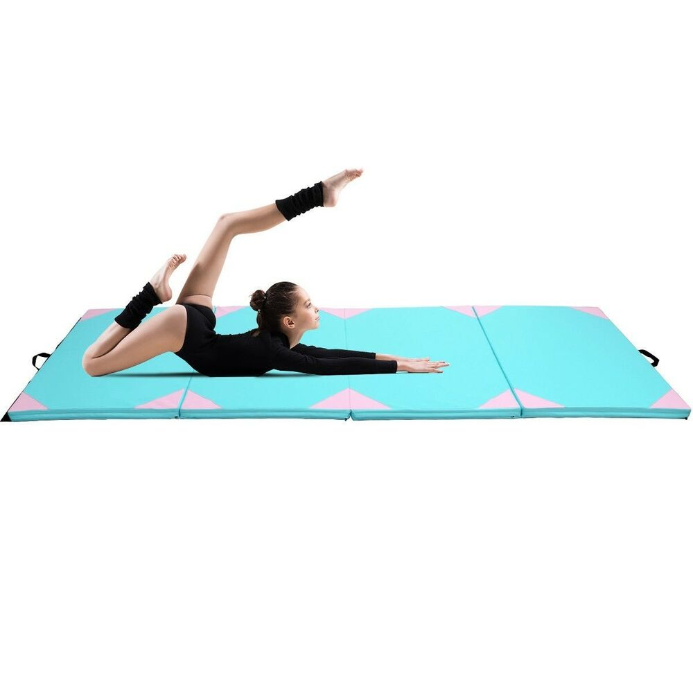 """4''x10''x2"""" Thick Gym Fitness Exercise Gymnastics Mat"""