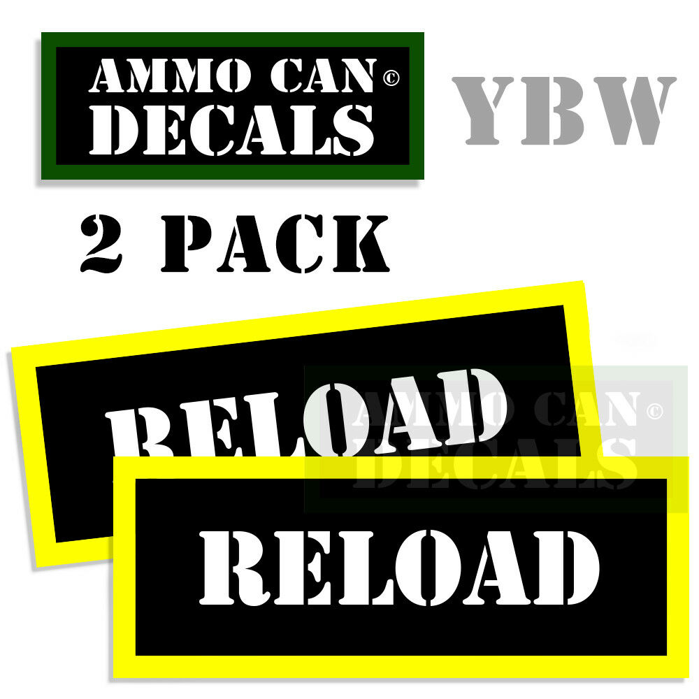 Details about reload ammo label decals box stickers reloading decals 2 pack blyw 3x1 15inches