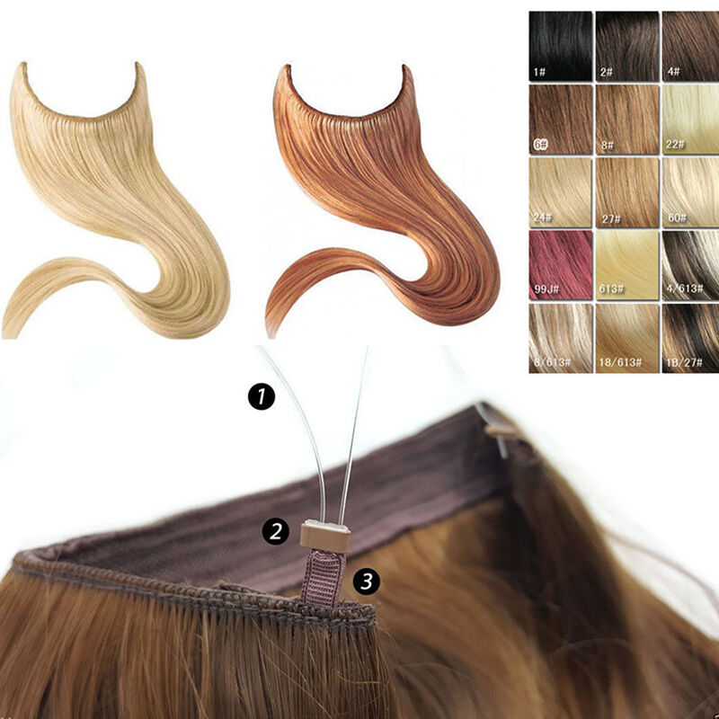 Hidden Halo Style Invisible Wire Flip Onin Weft 100 Remy Human