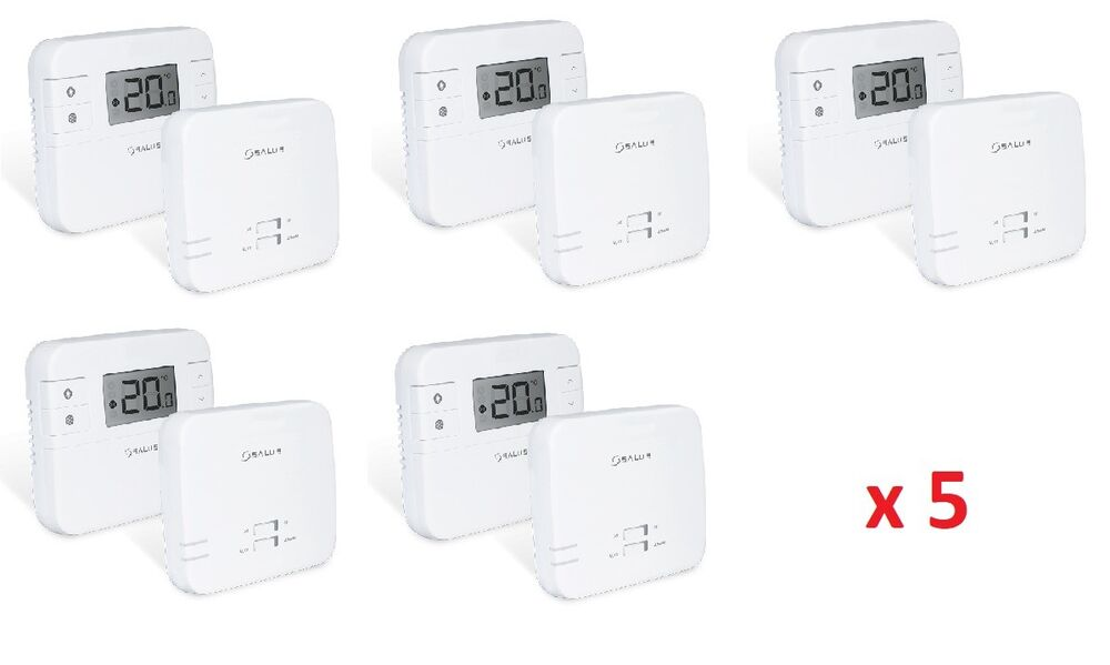 5 x salus rt310rf digital wireless electronic room thermostat rf stat x 5 number