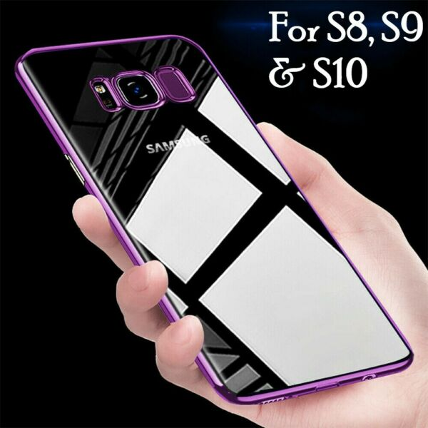 For Samsung Galaxy S8 S9 S10e Plus Luxury Slim Shockproof Silicone Case Cover
