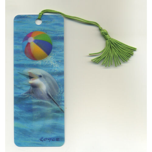 dolphin-with-beach-ball-3d-lenticular-bookmark-2-14-by-6-inches-fantastic-3d