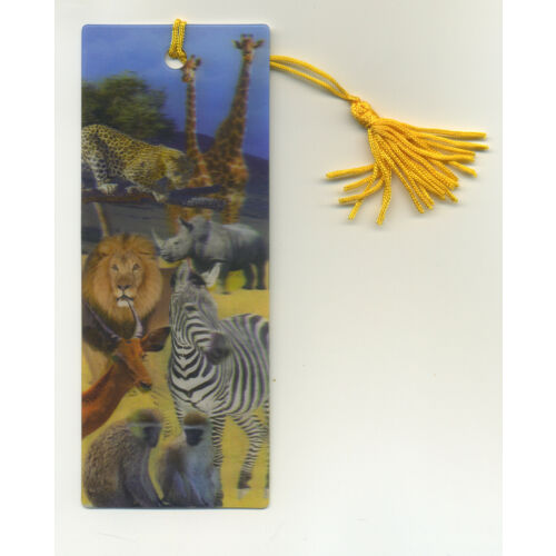 african-animals-3d-lenticular-bookmark-2-14-by-6-inches-fantastic-3d-