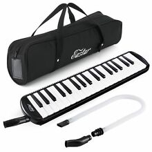 37 Key Melodica Instrument with Mouthpiece Air Piano Keyboard Carrying