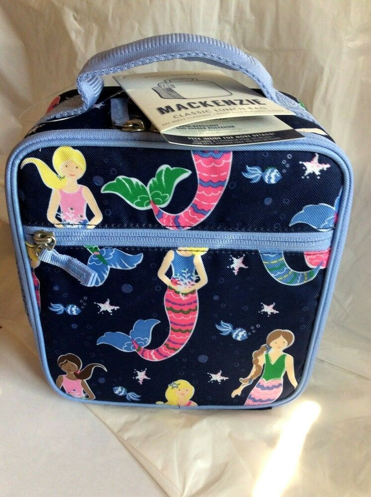Pottery Barn Mermaid Lunch Box Bag Ice Pack Butterfly