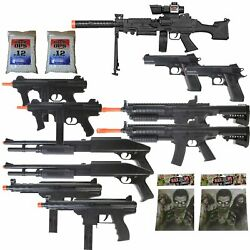 Kyпить 11 Airsoft Gun P2338 Sniper Rifle Package + Shotguns + Pistol + Tec9 SMG 6mm BBs на еВаy.соm