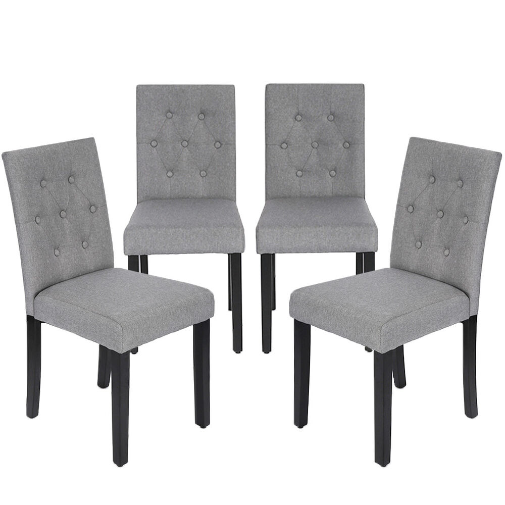 Furniture Chairs Dining: Kitchen Dining Chairs Armless Room Chair Accent Solid Wood