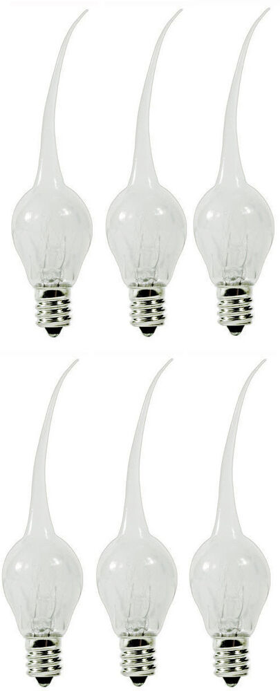 6 Pack Silicone Dipped Chandelier Candle Lite Bulbs 6