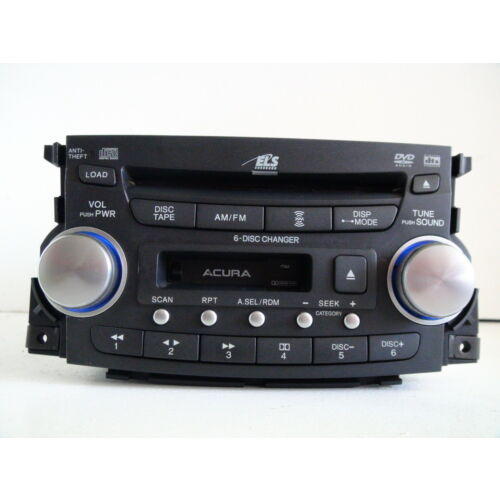 acura-tl-20042006-6disc-cd-cassette-audio-dvd-player-xm-1tb2-wcode-tested