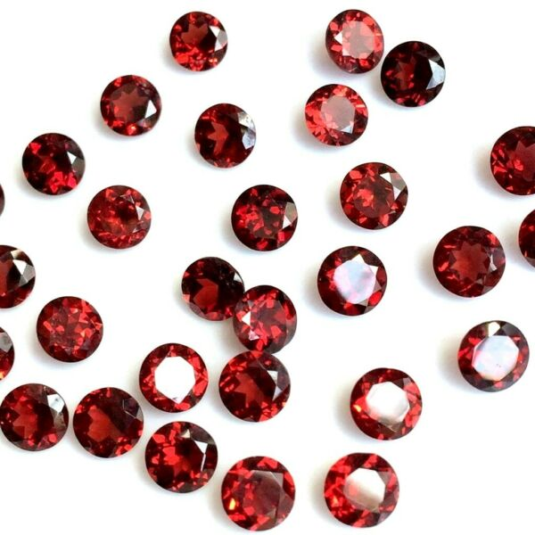 Wholesale Lot of 2.5mm to 10mm Round Mozambique Garnet Loose Calibrated Gemstone