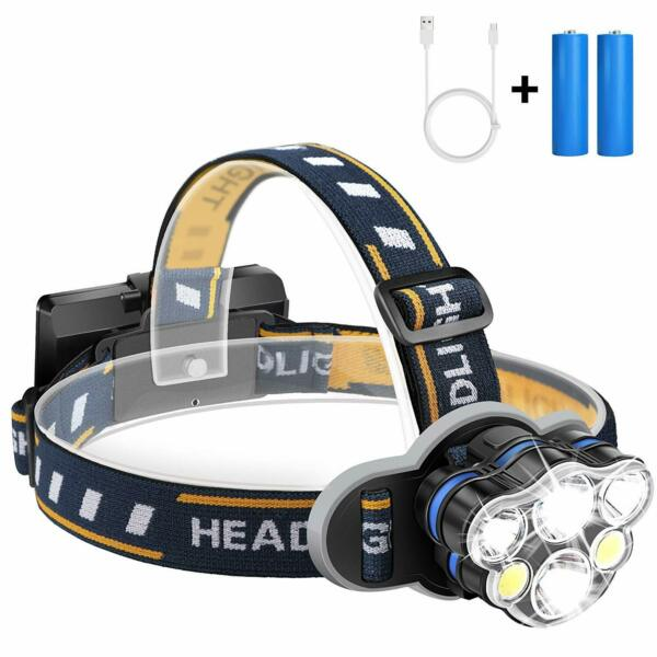 90000LM 5X CREE T6 LED Headlamp Headlight Flashlight Head Torch +Battery charger