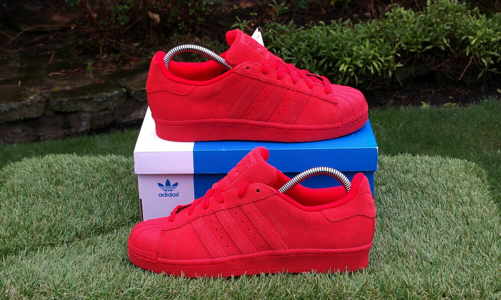 on sale 49717 2327b Details about BNWB   Genuine Adidas Originals Superstar RT Triple Red Suede  Trainers UK 10