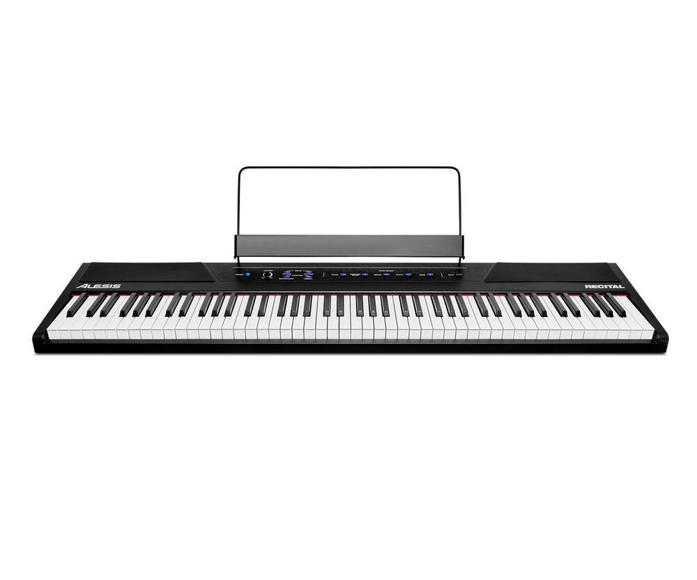 alesis recital 88 key beginner digital piano with full size semi weighted keys ebay. Black Bedroom Furniture Sets. Home Design Ideas