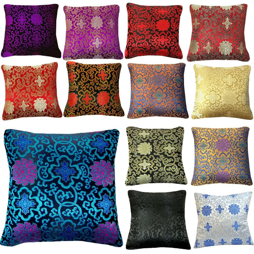 bef18f540 Details about Pillow Cover*Chinese Rayon Brocade Throw Seat Pad Cushion  Case Custom Size*BL2