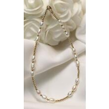 Triple White Freshwater Pearl 14k GF Bracelet / Ankle Bracelet (2897) Plus Sizes